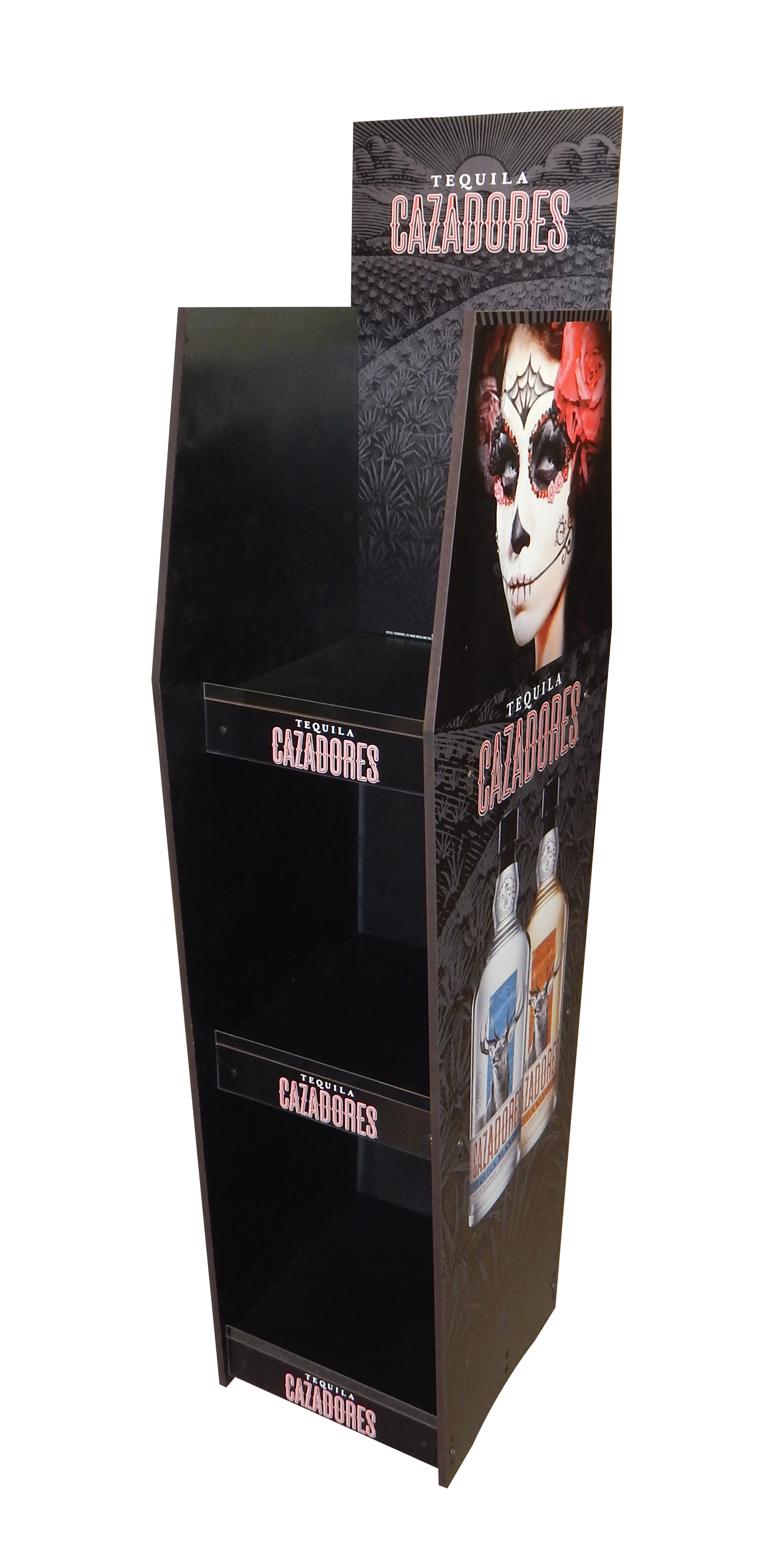 Cazadores Coffin Rack Display