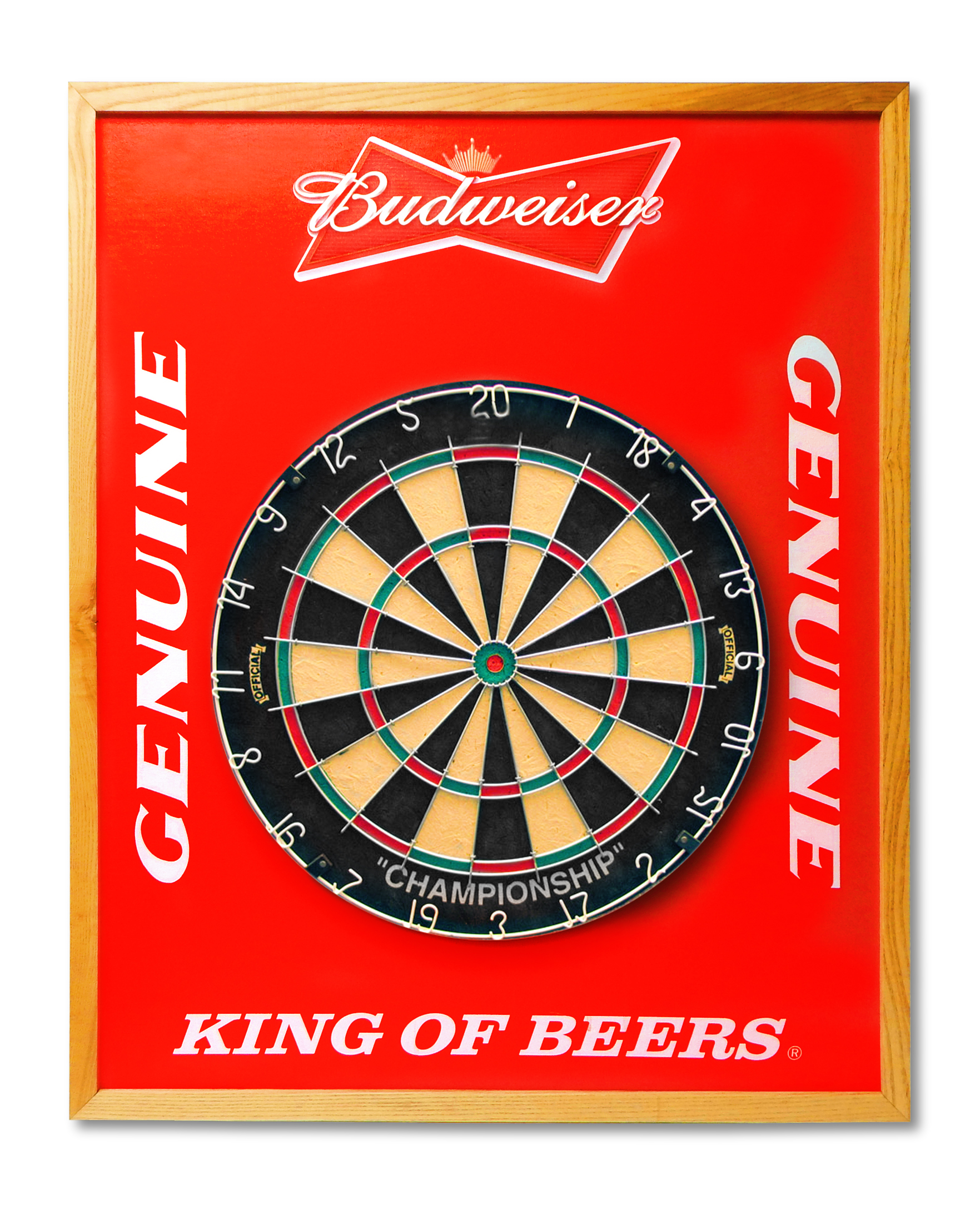 Budweiser Dart Board Backer