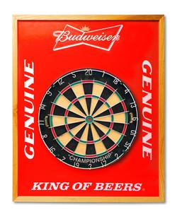 Budweiser Dart Board Backer