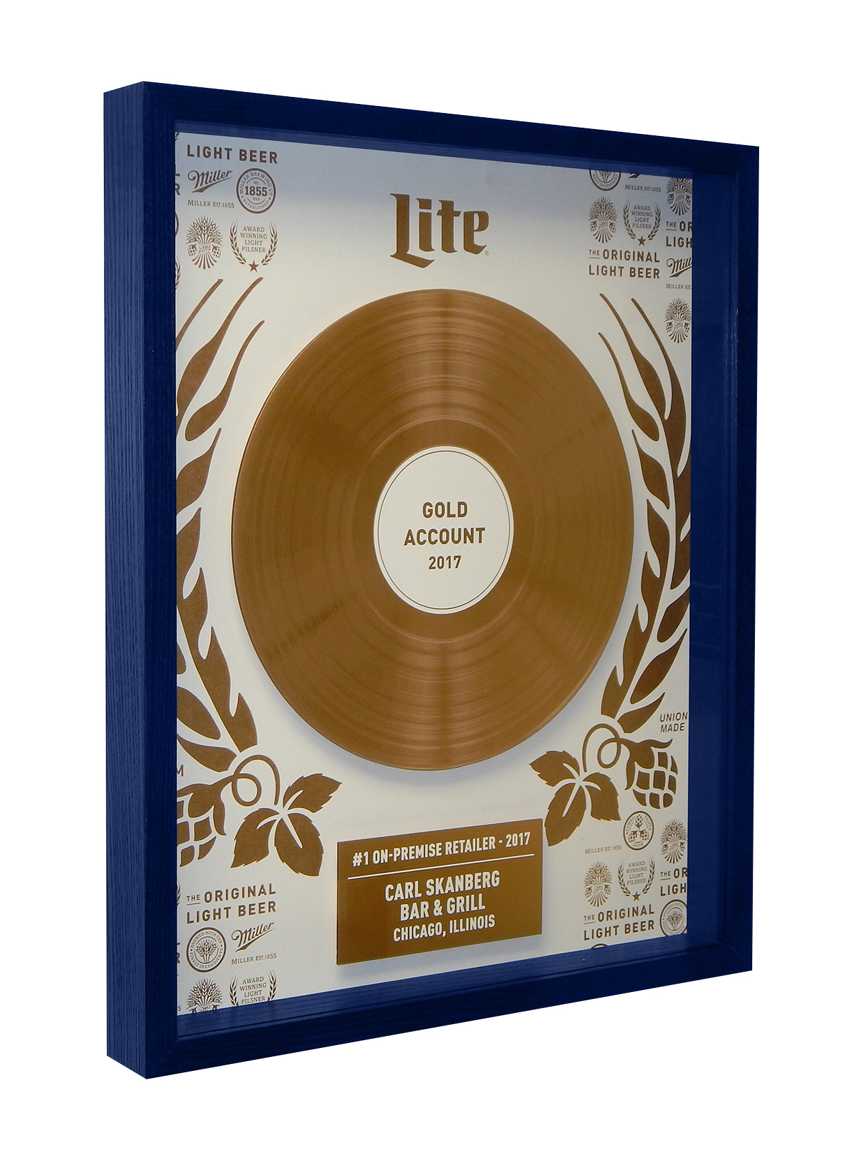 Miller Lite Record Shadow Box