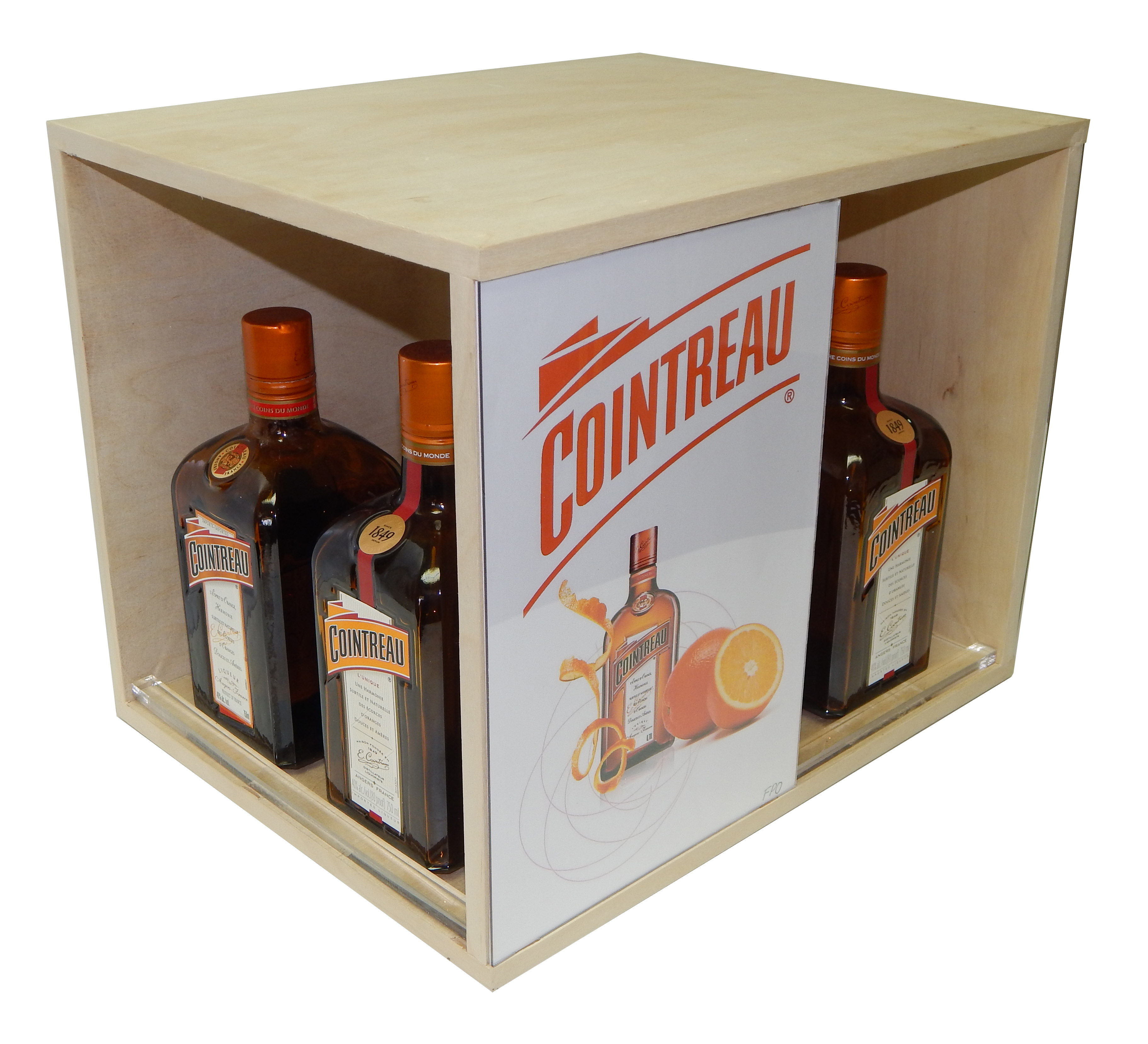 Cointreau Rack Dispaly with Acylic Lip1.