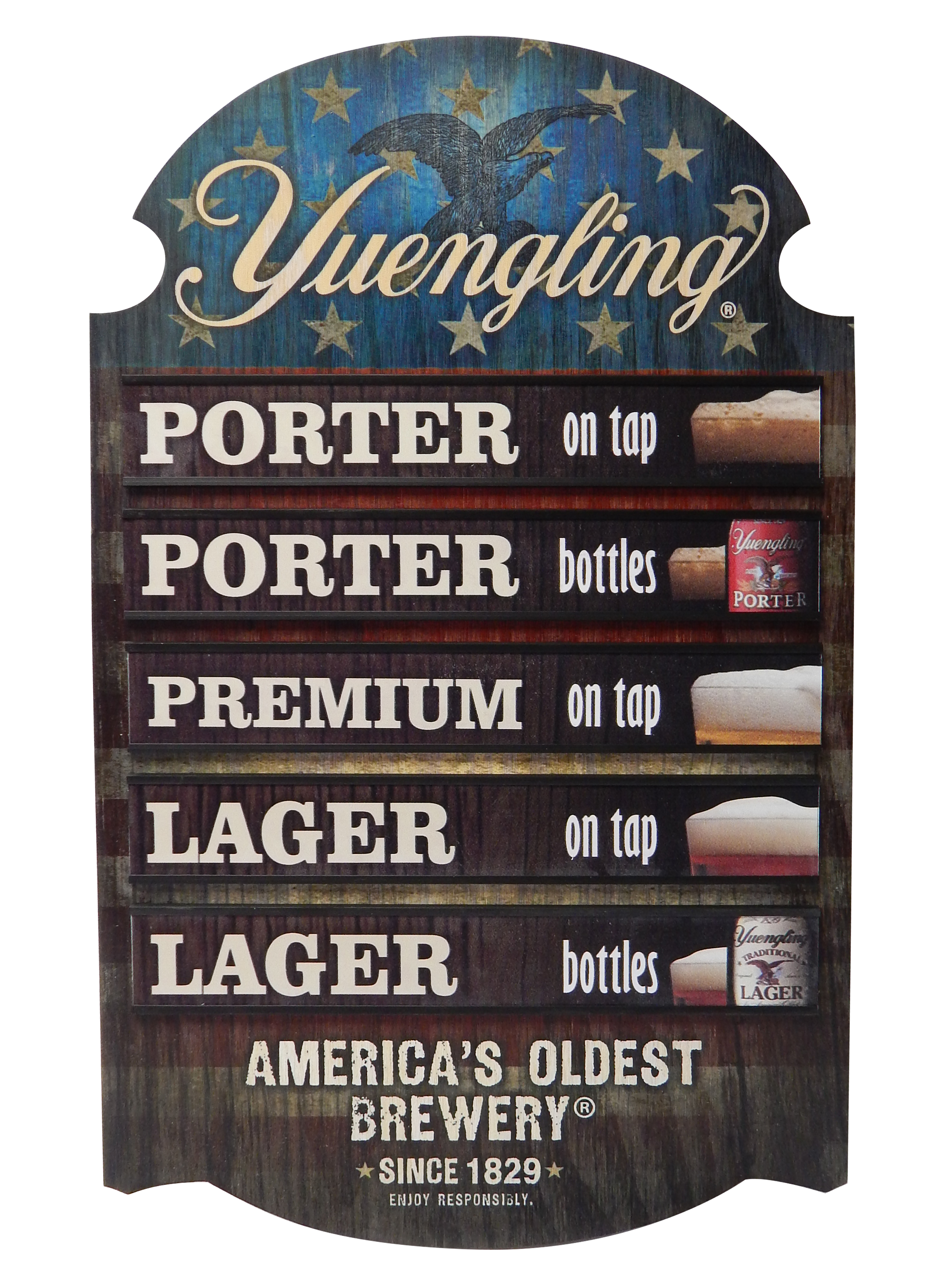 Yuengling Features Sign