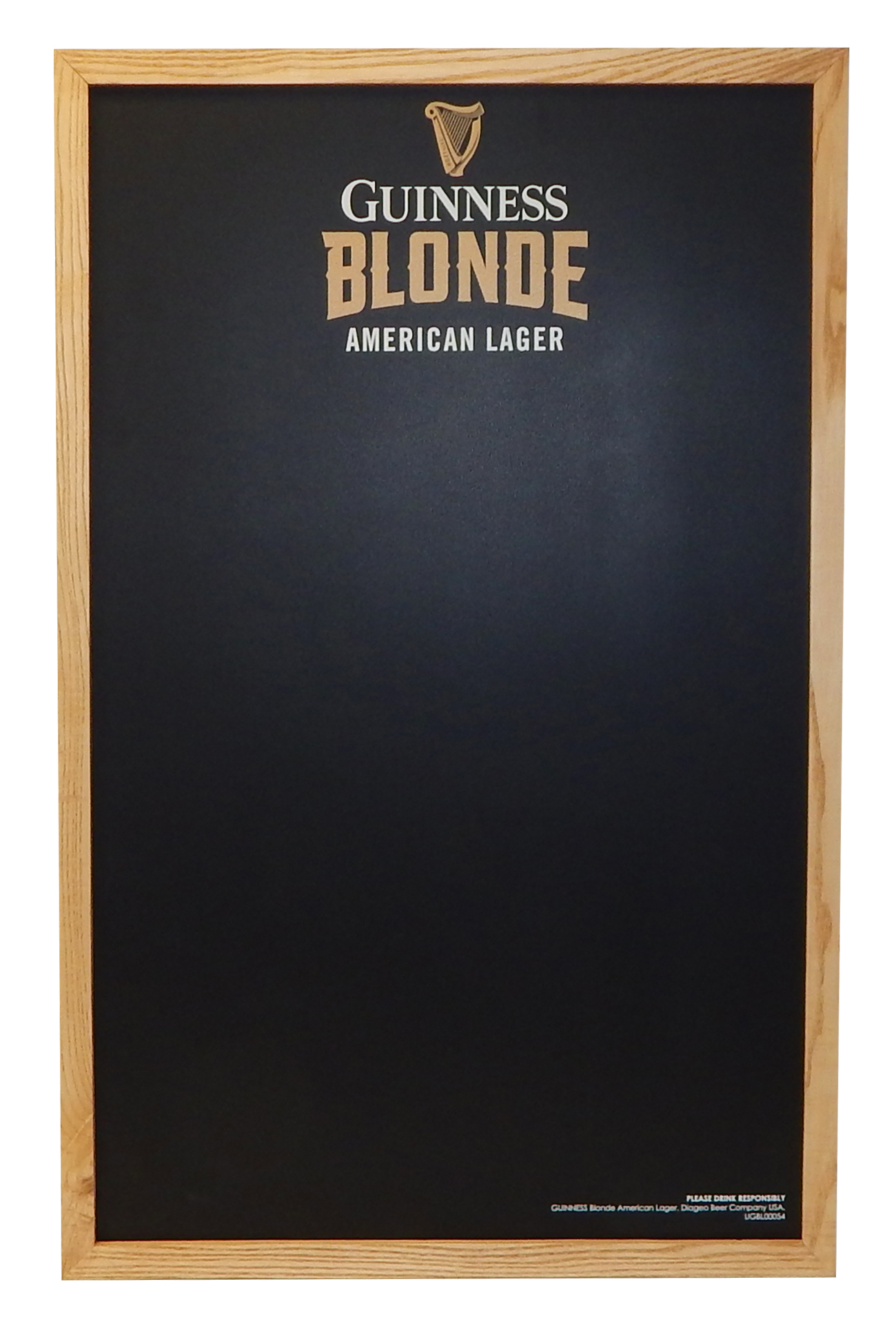 Guinness Blonde Chalkboard 3458