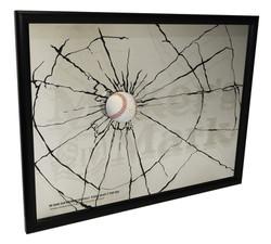 Maker's Mark Cracked Baseball Mirror