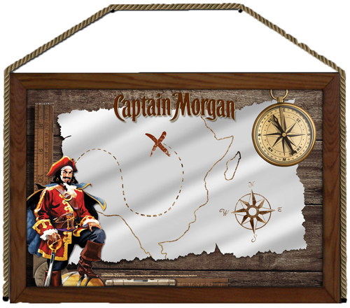 Captain Morgan 24x36 Nautical Mirror