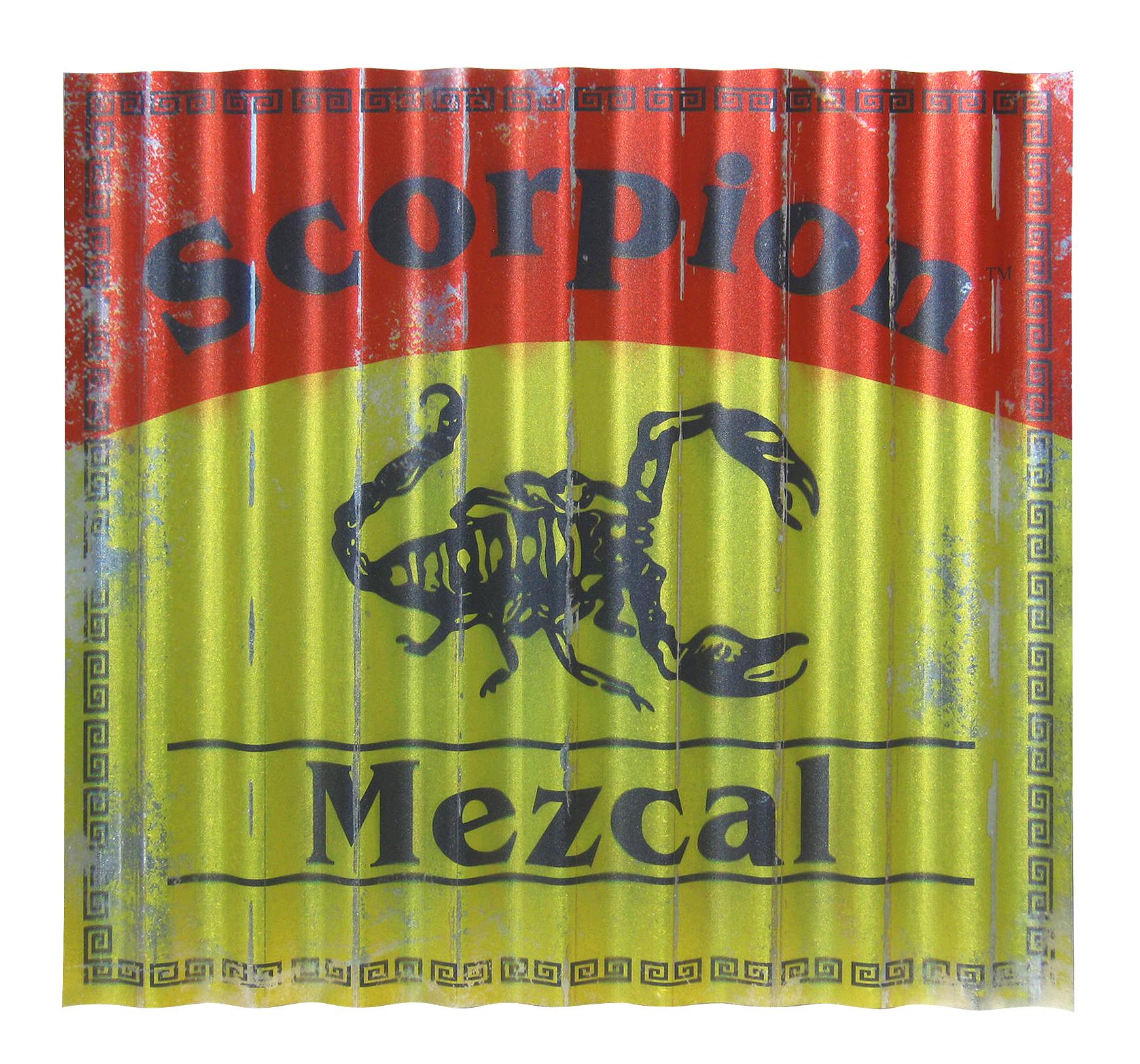 Scorpion Mezcal Galvanized Metal Sign
