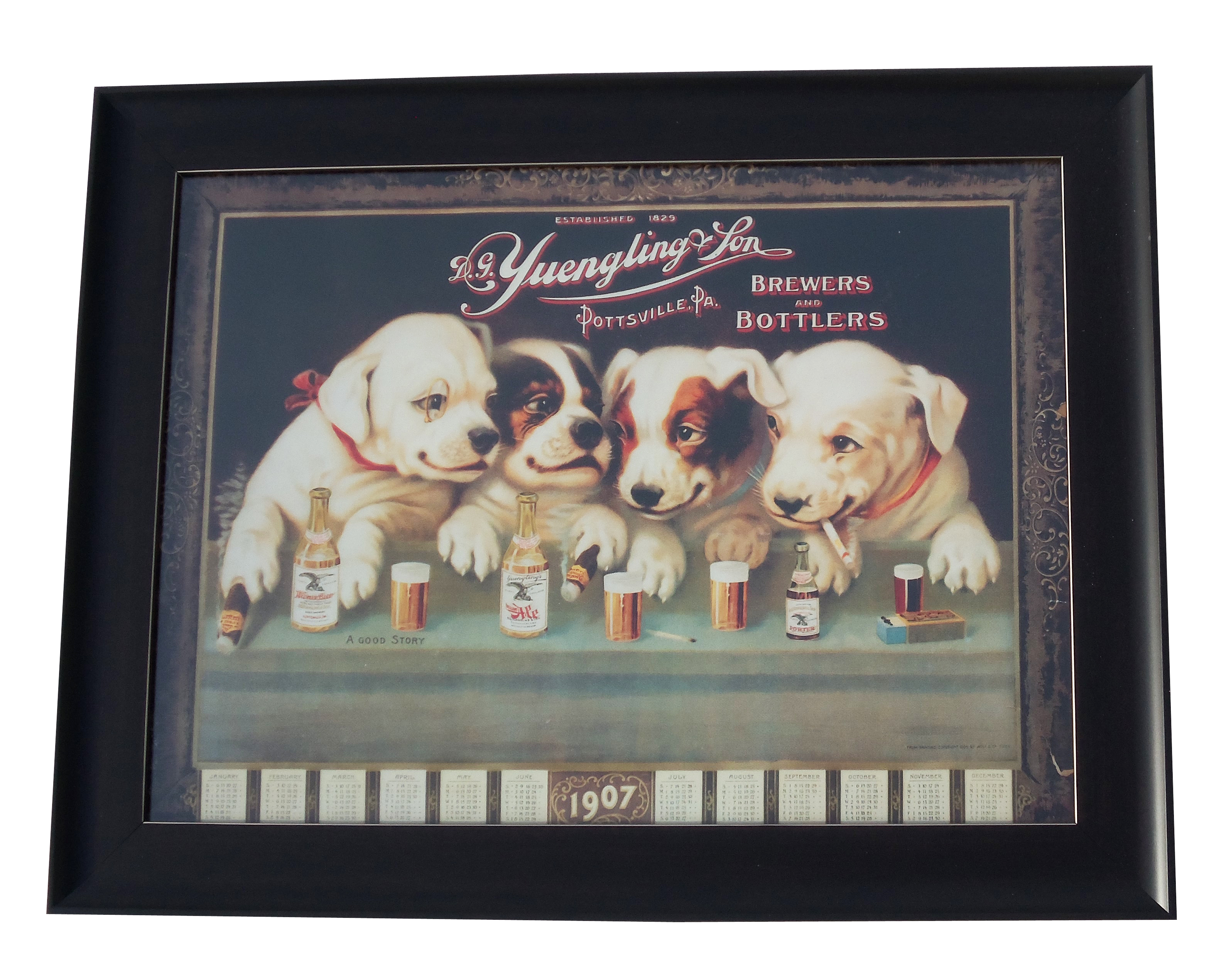 YUE Framed Dog Poster