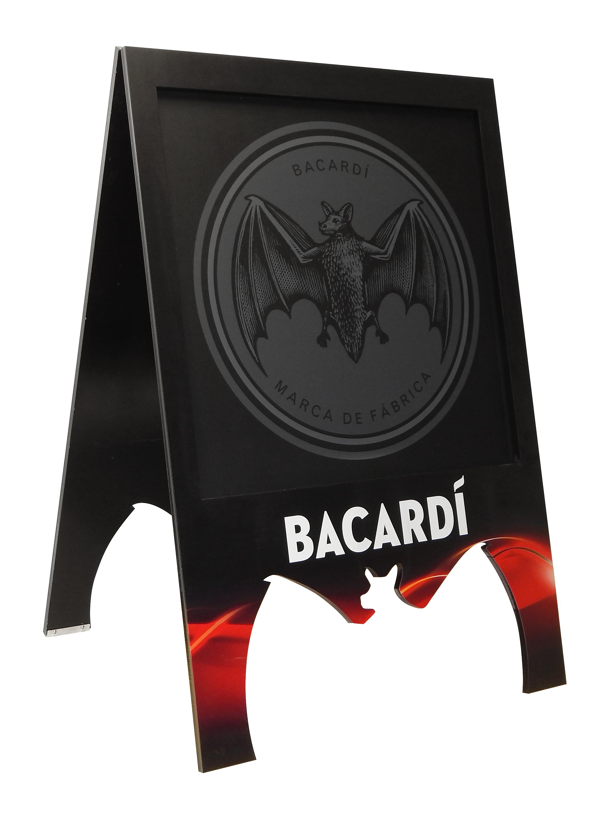 InnerWorkings - Bacardi MDF A-Frame 3735