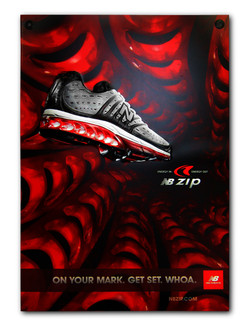 New Balance Embossed Sign