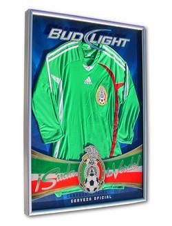 Bud Light Framed Jersey Display