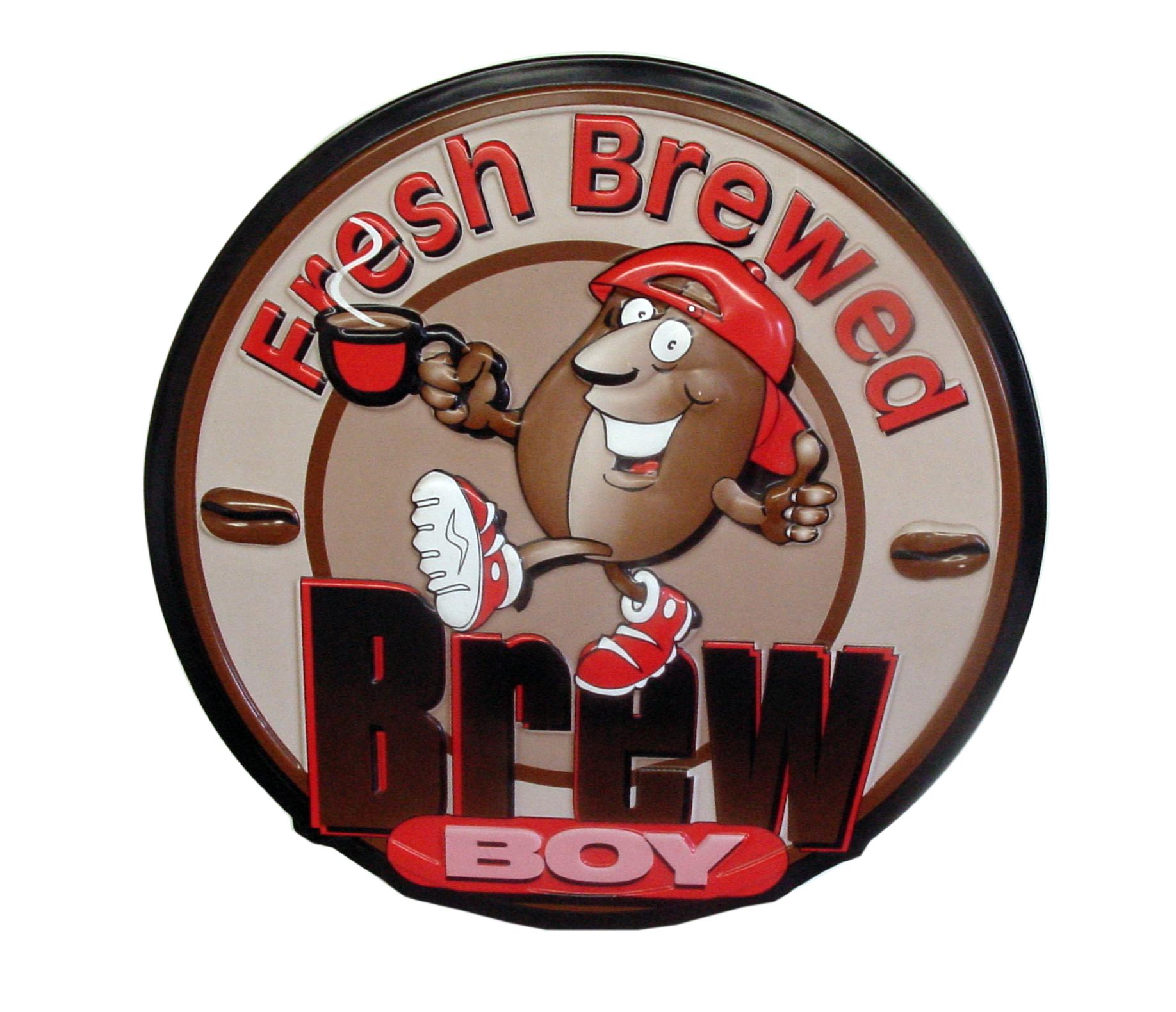 Brew Boy Tacker Sign