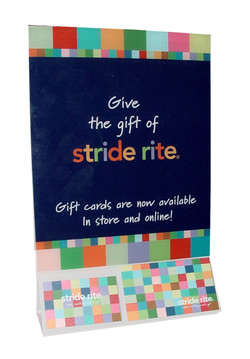 Stride Rite Table Tent Holder