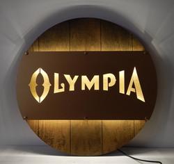 Olympia LED Metal Barrel Sign