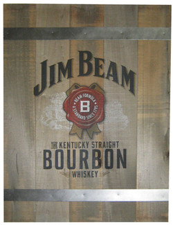 Jim Bourbon Wooden Plank Sign