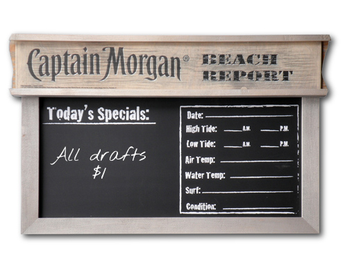 Captain Morgan Driftwood Chalkboard
