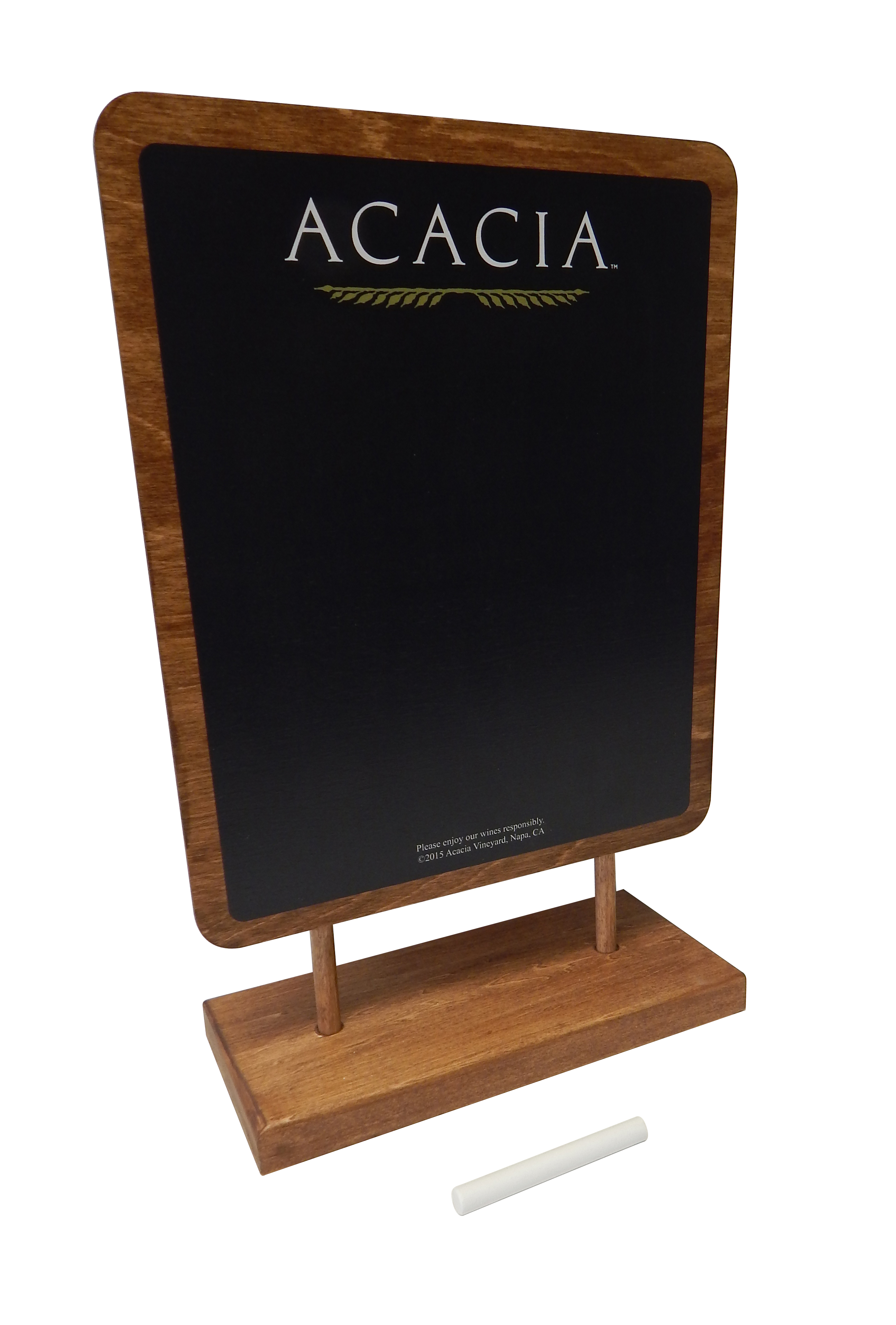 Acacia Chalkboard Table Tent