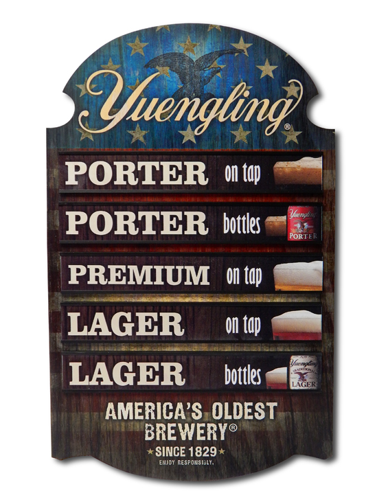 Yuengling Menu Wood Sign