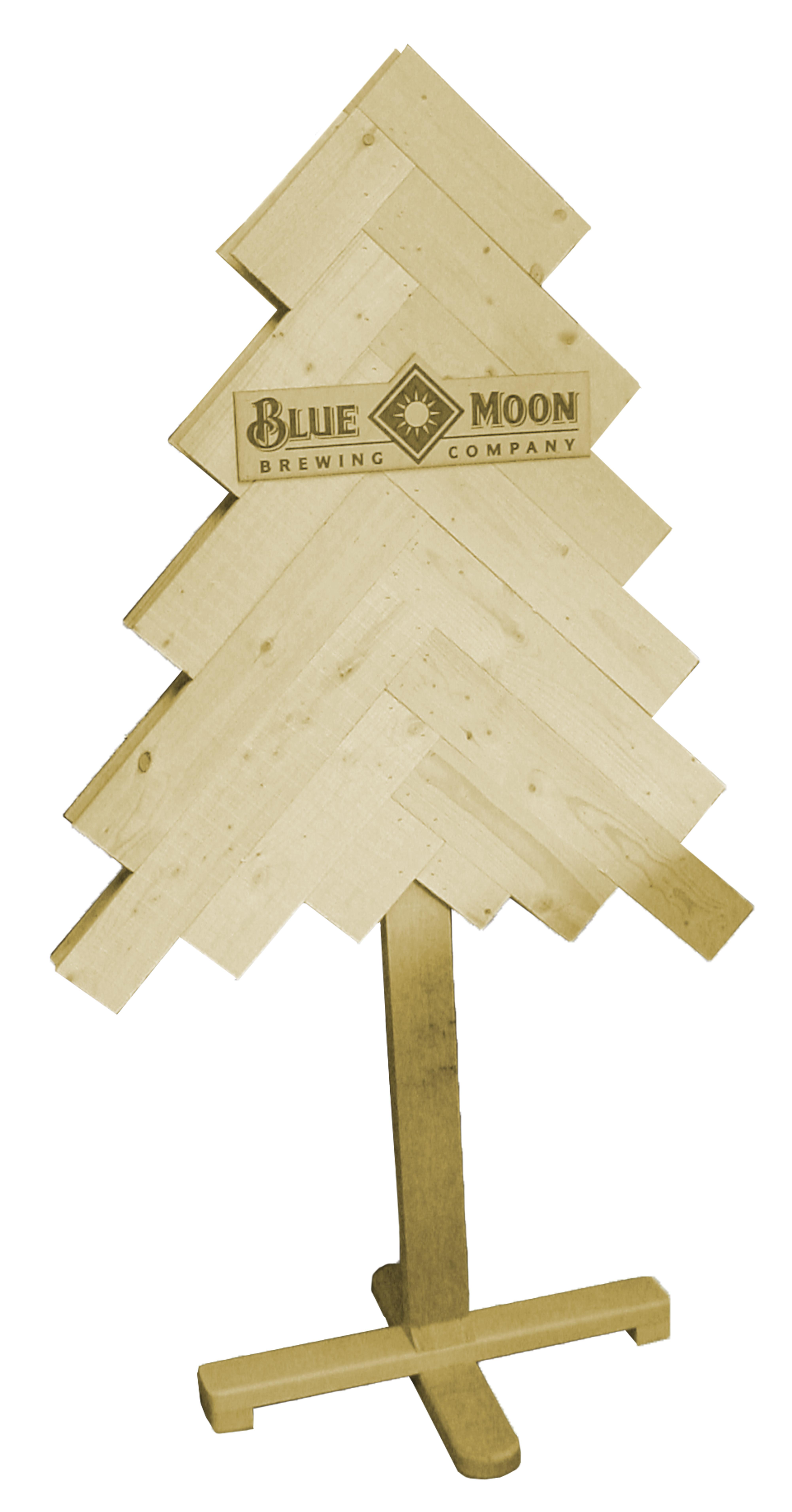 MAD-24 Blue Moon Wooden Slat Tree