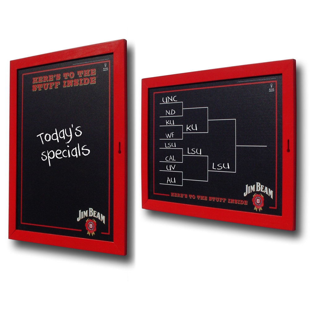 Jim Beam Double-Sided Chalkboard