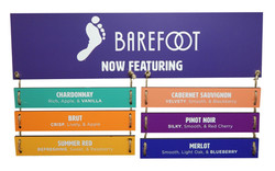 Barefoot Menu Sign