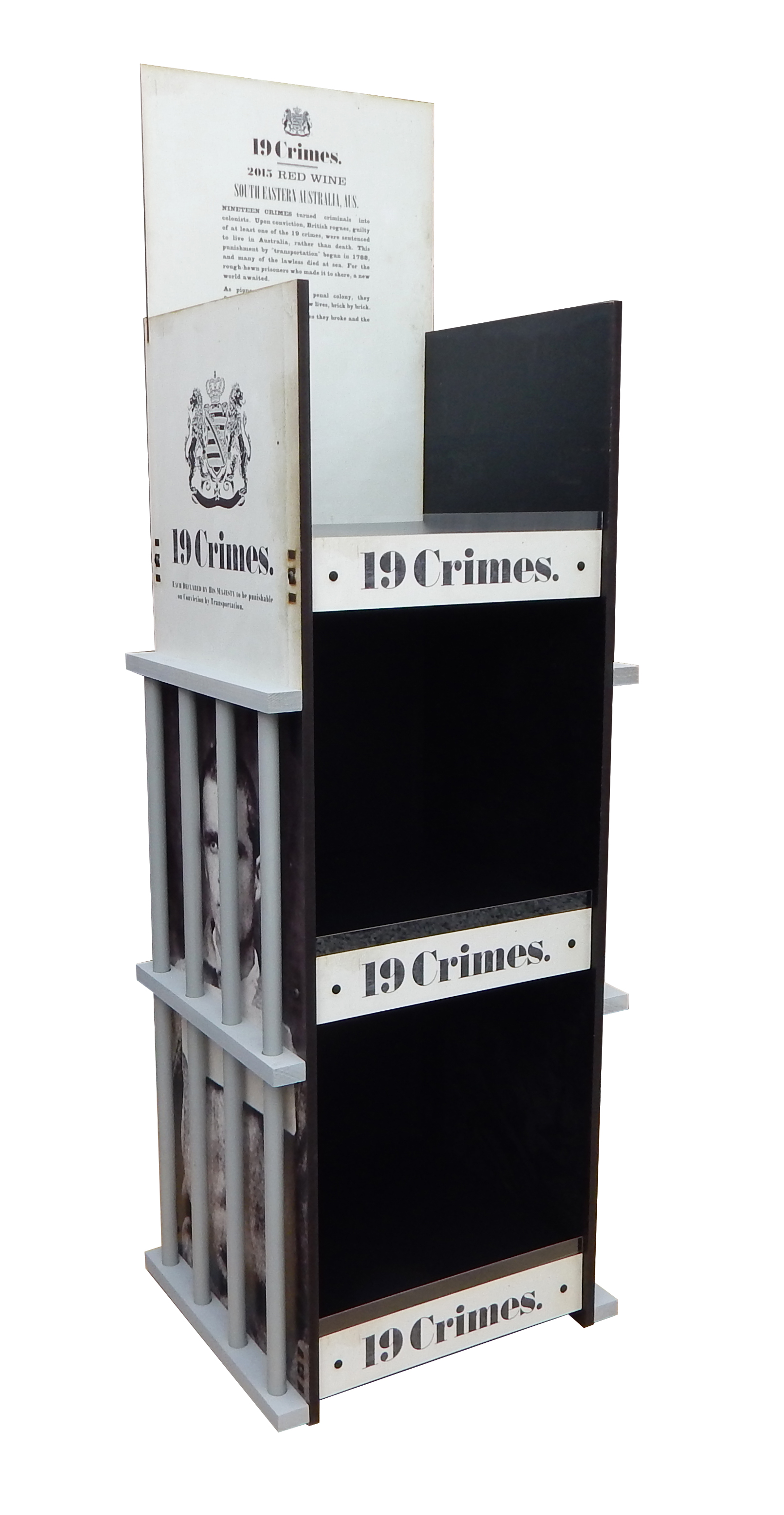 19 Crimes Rack Display