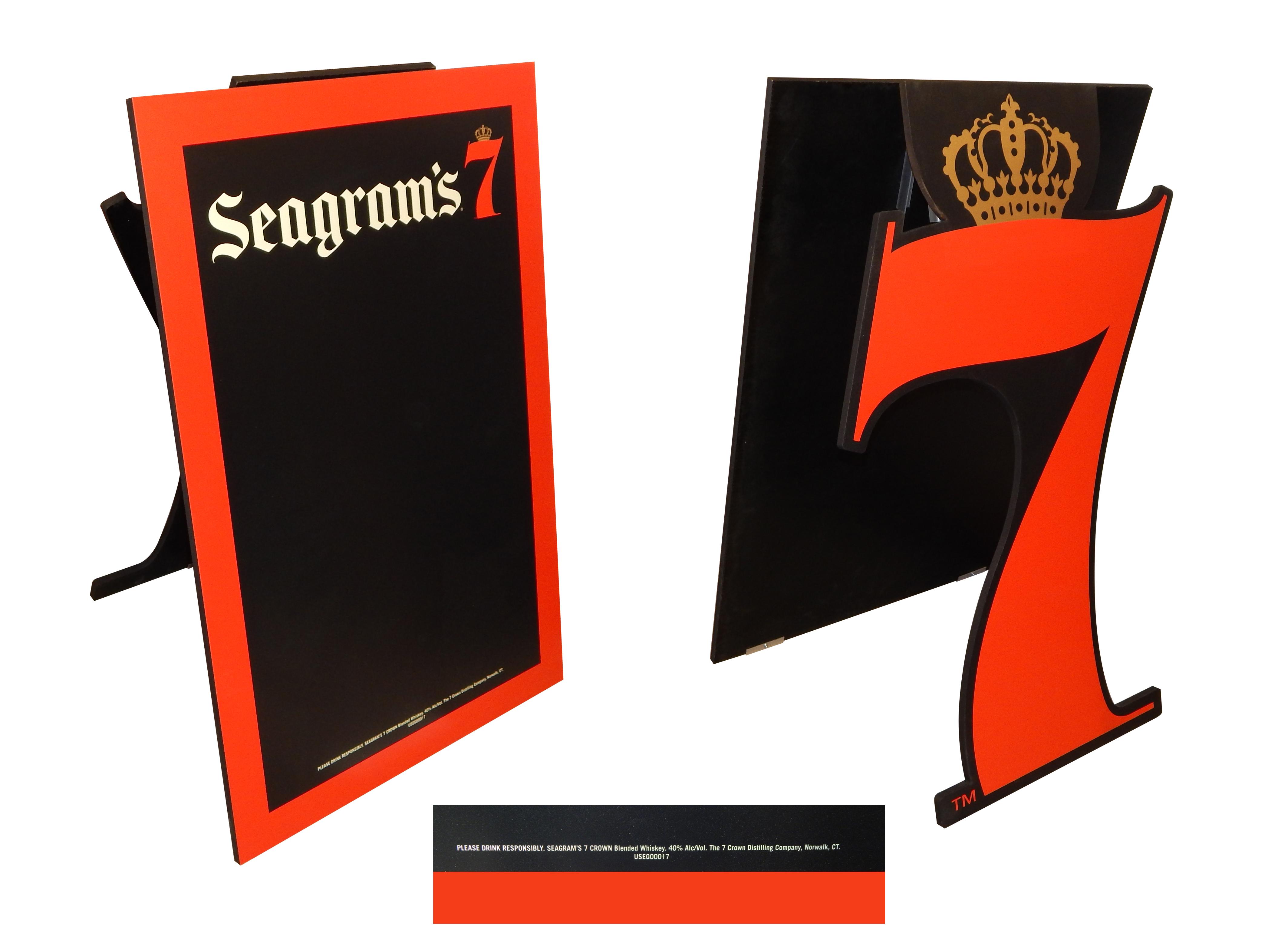 Seagram's 7 Easel Chalkboard A-Frame 355