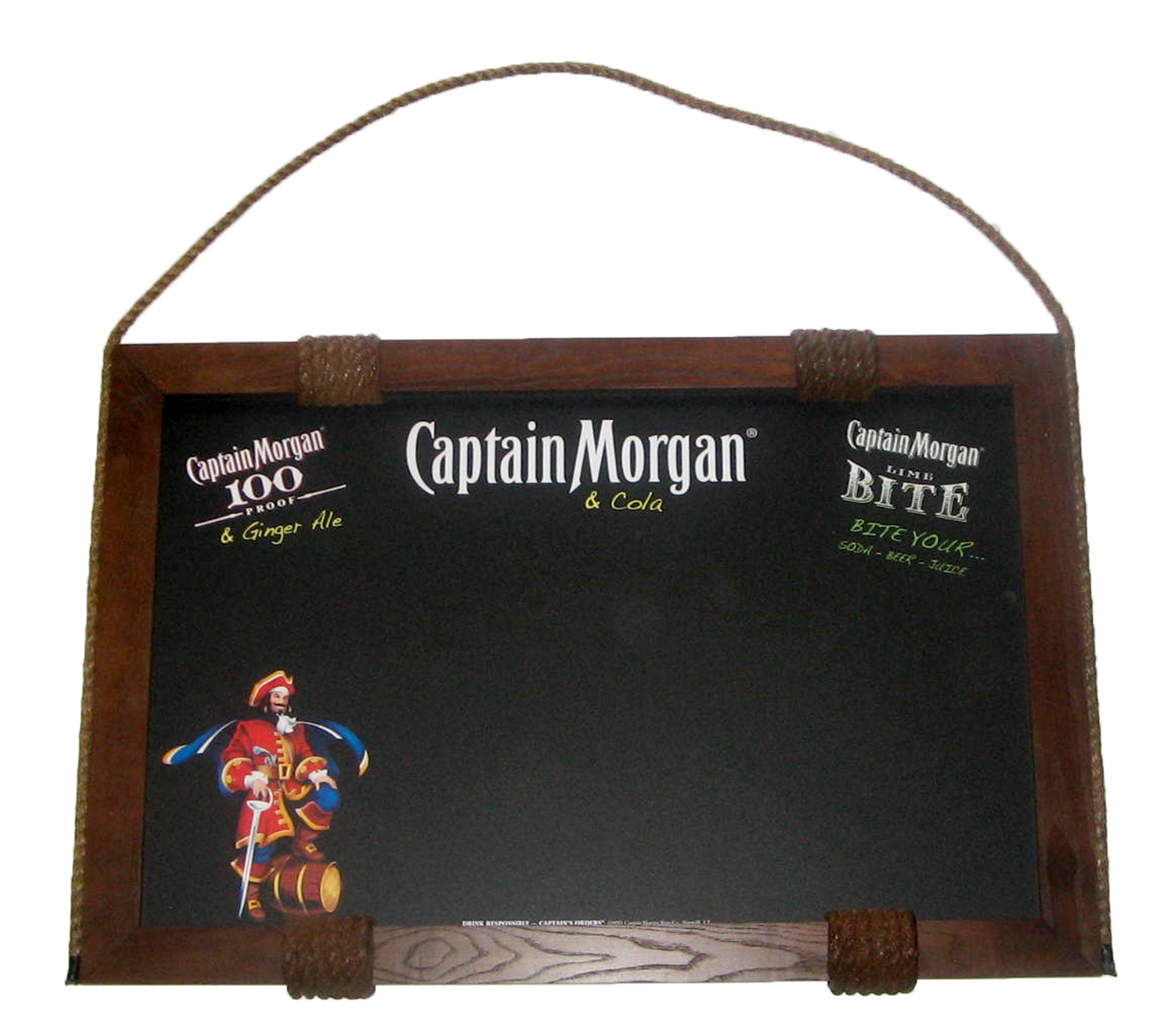 AIA-61 Captain Morgan Rope Lined Chalkbo