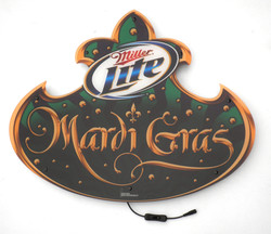 Miller Lite Mardi Gras Shap-LiteLED