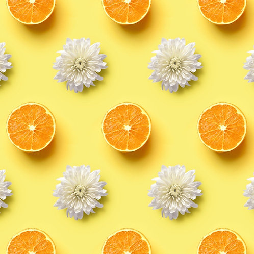 Navel Orange & White Chrysanthemum Flower