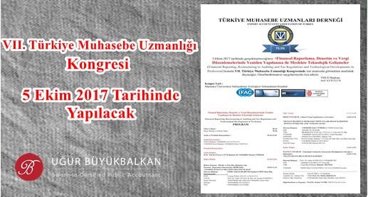 VII.Türkiye Muhasebe Uzmanlığı Kongresi (TMUD)
