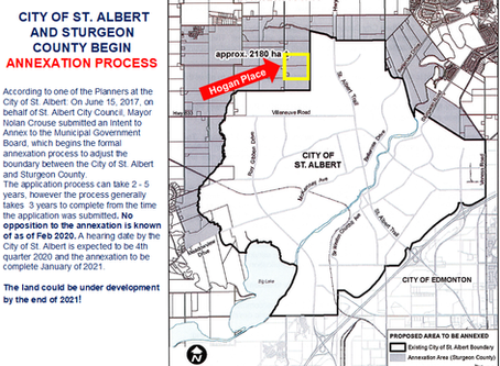 Hogans Place 1 & 2 Part of City of St. Albert Annexation