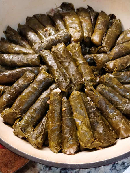 cooked grape leaves
