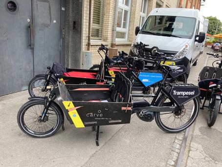 Die erste Ladung Bikes ist da ...