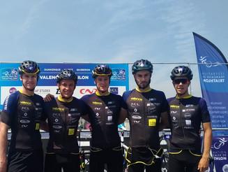 Grand Prix FFTRI de D1, 2ème étape à Dunkerque. Valence Triathlon prend la 8ème place.