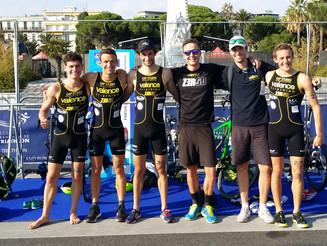 Finale du Grand Prix de Triathlon FFTRI à Nice, les garçons ont brillé. Thierry a vaincu le Bearman.