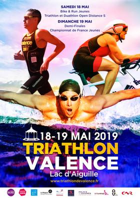 J-30. Le 29ème Triathlon de Valence se tiendra au Lac d'Aiguille les 18 et 19 Mai 2019.
