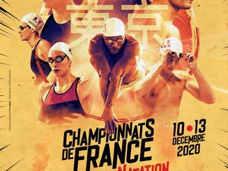 Mathilde aux Championnats de France de natation.