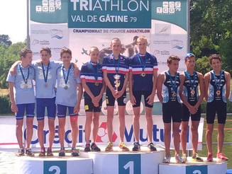 Championnats de France Aquathlon Jeunes. Triathlon des Gorges de l'Ardèche.