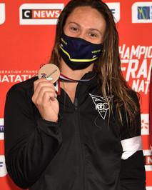 Championnats de France Elites FFN, pas de qualif pour les JO pour Mathilde.