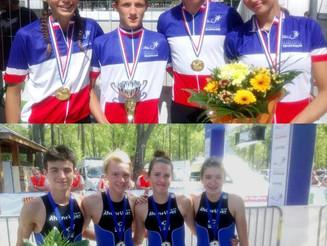 Les jeunes à l'honneur aux France des Ligues à Embrun. Audric confirme à La Ferté-Bernard.