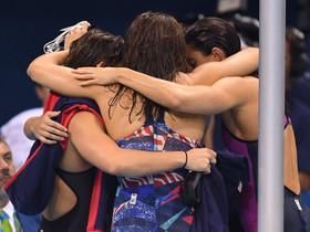 Mathilde aux JO à Rio : Record de France du 4 x 100 NL et 7è place en finale !