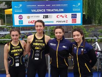 1ère étape du Championnat de France D2 et du Grand Prix FFTRI de D1 à Châteauroux. Valence Triathlon