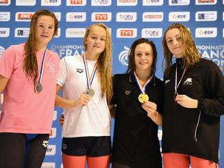 Beau bilan pour Mathilde aux Championnats de France bassin de 25m.