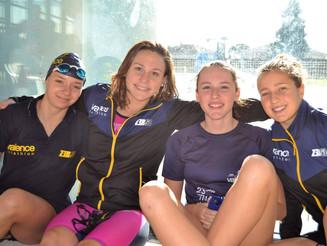 Interclubs départementaux de natation à Montélimar, l'équipe 1 garçons termine à une très belle