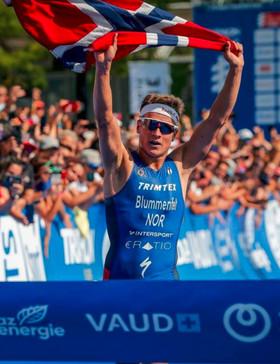 Kristian Blummenfelt avec l'équipe du Valence Triathlon à Châteauroux, 1ère étape du Grand Prix