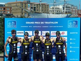 7ème place à Dunkerque pour l'équipe masculine pour l'ouverture du GP FFTRI de Triathlon.