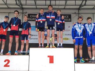 Championnats de France de Duathlon, le titre pour les minimes du Valence Triathlon.