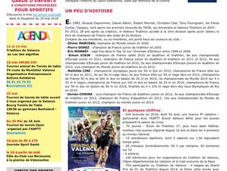 Numéro spécial dans le Relais.net de l'Office des Sports Valentinois sur le Valence Triathlon...