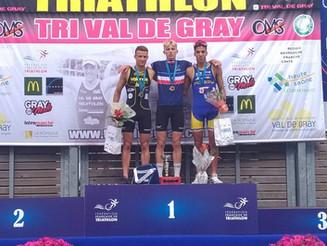 Championnats de France de Triathlon S et Relais Mixte : Max et Maxime 1er et 2ème en U23 et 4ème pla
