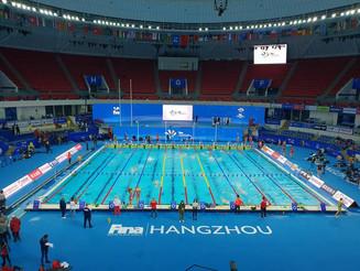 Mathilde Cini aux Championnats du Monde  bassin de 25m à Hangzhou  ( Chine )